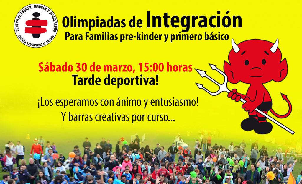 Olimpiadas de integración son el 30 de marzo