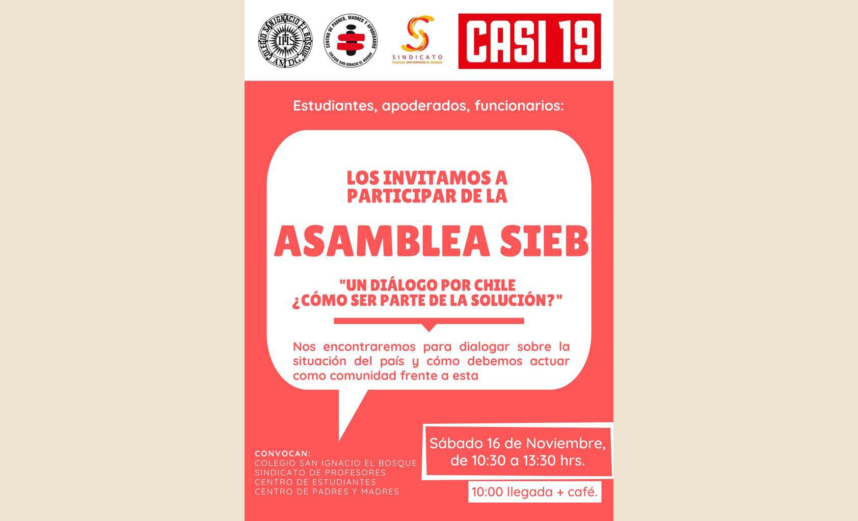 Participa en la Asamblea SIEB: un diálogo por Chile