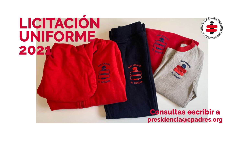 Licitación uniformes 2021